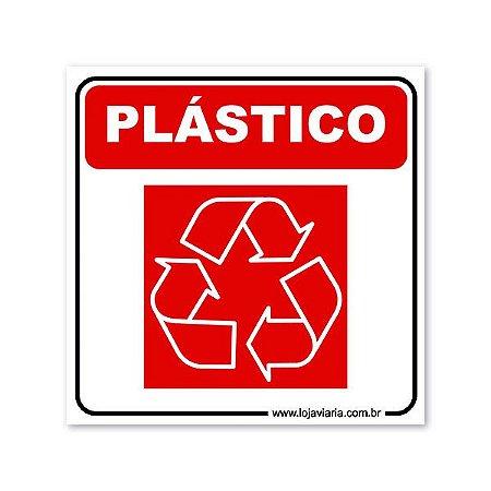 Placa Reciclável Plástico 18x18 cm ACM 3 mm