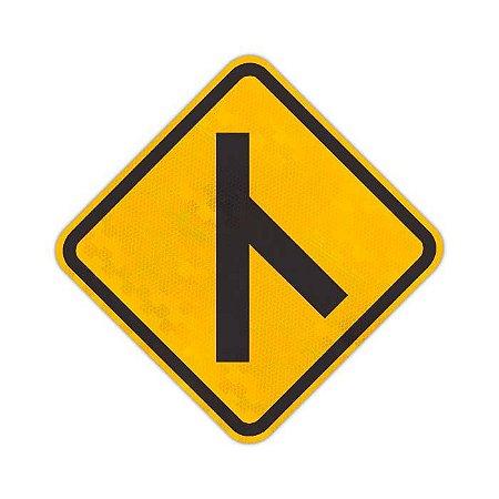 Placa Confluência à direita A-13b