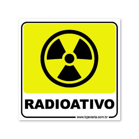 Placa de Sinalização, Radioativo 18x18 cm ACM 3 mm