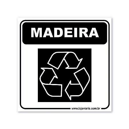 Placa Reciclável Madeira 18x18 cm ACM 3 mm