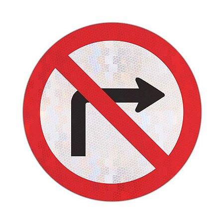 Placa proibido virar à direita R-4b