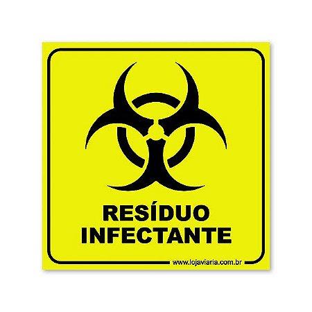 Placa Resíduo Infectante 18x18 cm ACM 3 mm