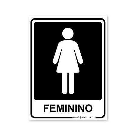 Placa Banheiro Feminino 15x20 cm ACM 3 mm