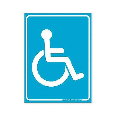 Placa Banheiro de Deficiente Físico 15x20 cm ACM 3 mm