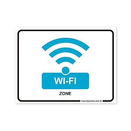 Placa de Wi-Fi 20x15 cm ACM 3 mm