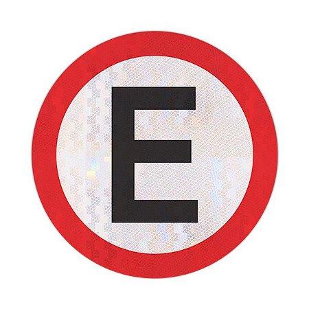 Placa estacionamento regulamentado R-6b