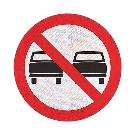 Placa proibido ultrapassar R-7
