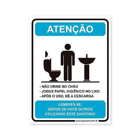 Placa Regras Banheiro Masculino 15x20 cm ACM 3 mm