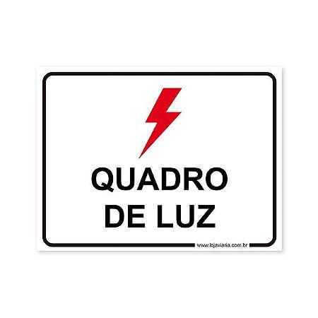 Placa Quadro de Luz - 20x15 cm ACM 3 mm