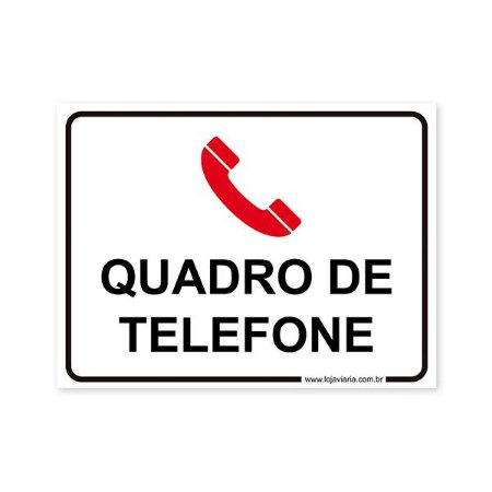 Placa Quadro de Telefone 20x15 cm ACM 3 mm