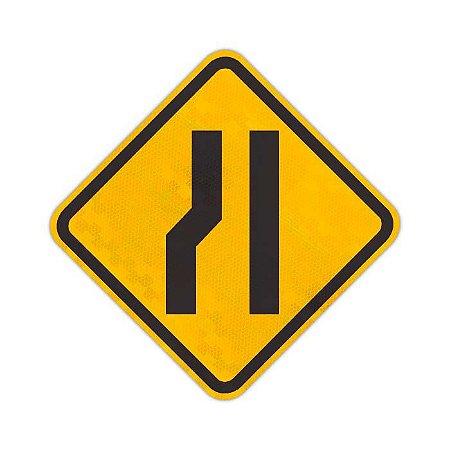 Placa Estreitamento de pista à esquerda A-21b