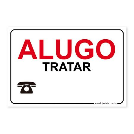 Placa Alugo 30x20 cm ACM 3 mm