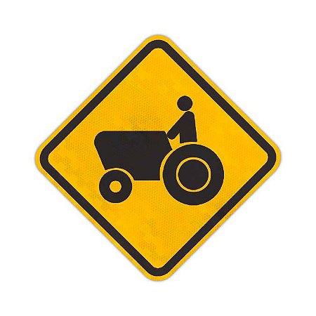 Placa Trânsito de tratores ou maquinária agrícola A-31