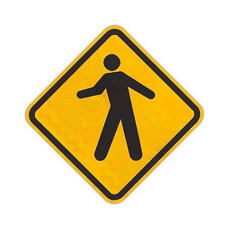 Placa trânsito de pedestres A-32a