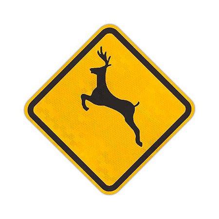 Placa Animais selvagens A-36
