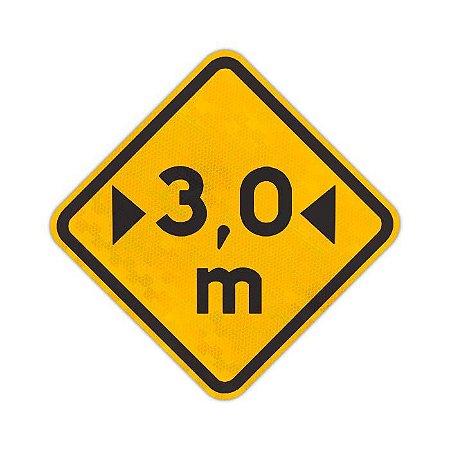Placa Largura limitada A-38