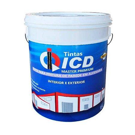 Tinta para parede - Acrílica premium fosca 18 L - ICD Vias