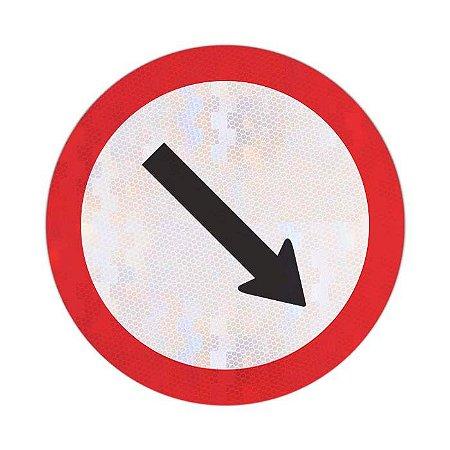 Placa Passagem obrigatória R-24b