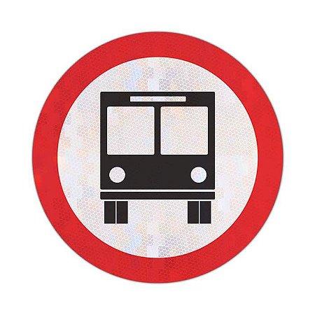 Placa Circulação exclusiva de ônibus R-32