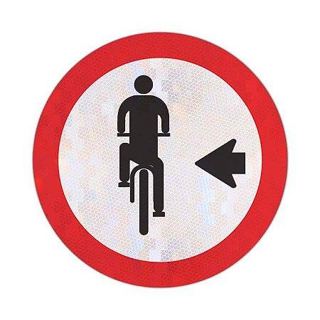 Placa Ciclista, transite à esquerda R-35a
