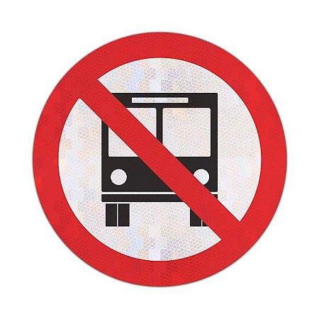 Placa Proibido trânsito de ônibus R-38