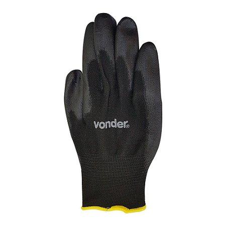 Luva de proteção - poliéster com poliuretano - Vonder
