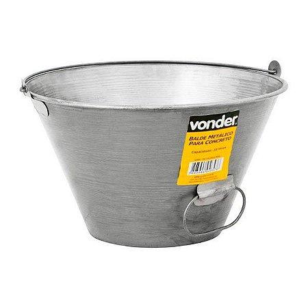 Balde metálico para concreto 10 L - Vonder