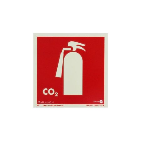 Placa Fotoluminescente Extintor CO2