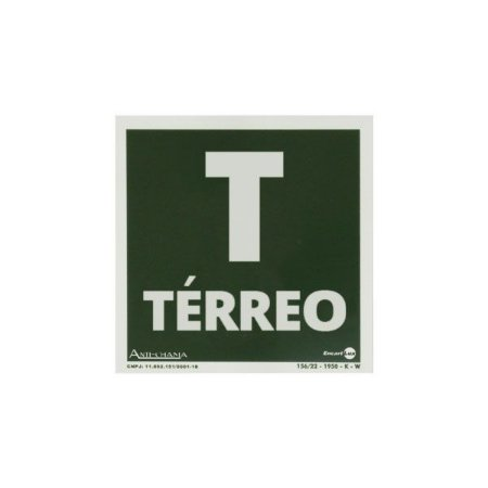 Placa Fotoluminescente Térreo