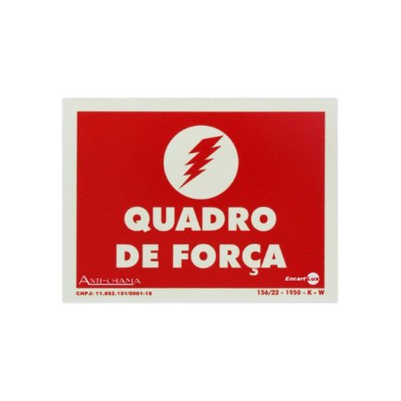 Placa Fotoluminescente Quadro de Forca