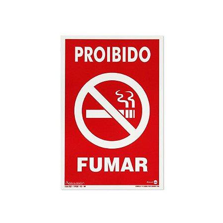 Placa Fotoluminescente Proibido Fumar - 20 x 30 cm