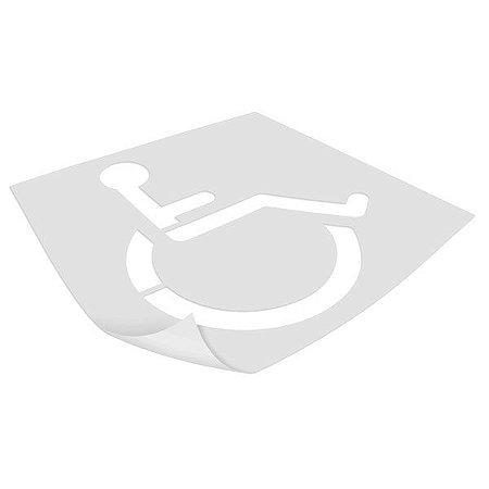 Gabarito de vinil adesivo - Cadeirante