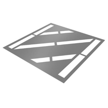 Gabarito de Aço - Faixa zebrada
