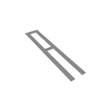 Gabarito de aço - Linha de estacionamento/delimitadora de 10 cm