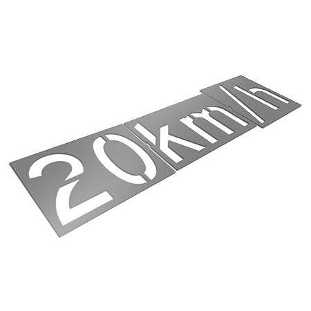 Gabarito de aço - Velocidade permitida 20km/h