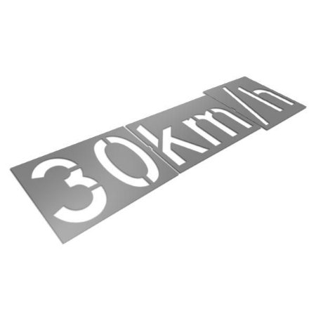 Gabarito de aço - Velocidade permitida 30km/h