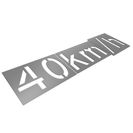 Gabarito de aço - Velocidade permitida 40km/h