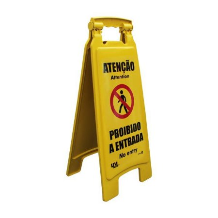 Cavalete - Atenção Proibido a entrada