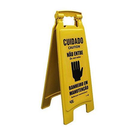 Cavalete - Cuidado, não entre, banheiro em manutenção