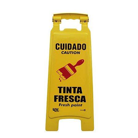 CAVALETE CUIDADO TINTA FRESCA