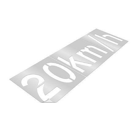 Gabarito de vinil adesivo - Velocidade permitida 20km/h