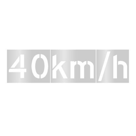 Gabarito de vinil adesivo - Velocidade permitida 40km/h