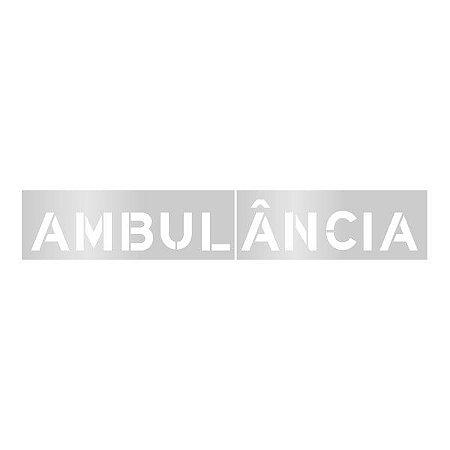 Gabarito de vinil adesivo - Ambulância