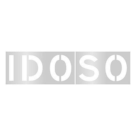 Gabarito de vinil adesivo - Escrita Idoso