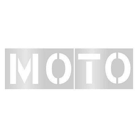Gabarito de vinil adesivo - Moto