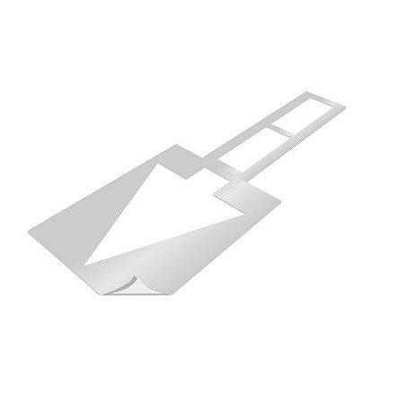 Gabarito de vinil adesivo - Seta direcional