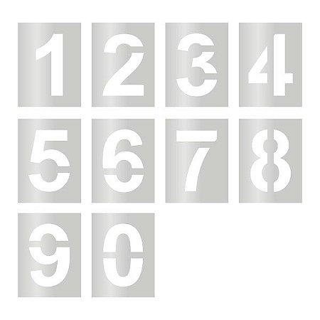 Gabarito de vinil adesivo - Kit completo de numeral