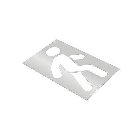 Gabarito de vinil adesivo - Pedestre