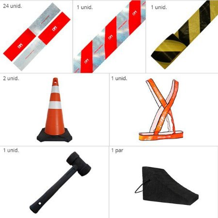 Kit Para Caminhão - Segurança e emergência
