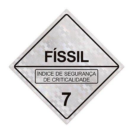 Placa para caminhão - Físsil 7 - 30 x 30 cm ACM 3 mm